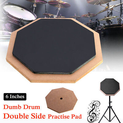 Soft Rubber Dumb Drum Pad Drum Practice Pad Mat Plate Drumming Silencer 6""