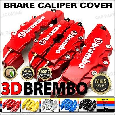 3D Universal Style Brembo Brake Caliper Cover front and rear 4 pcs Red BC02