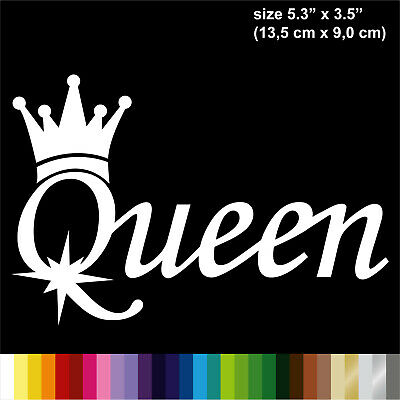 "QUEEN STICKER DECAL VINYL CAR WINDOW BUMPER 5.3"" x 3.5"" JDM"