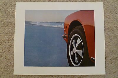 1969 Porsche 911 Coupe Showroom Advertising Sales Poster RARE!! Awesome L@@K
