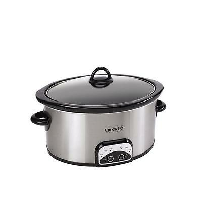 CrockPot Smart-Pot 6 qt. Programmable Slow Cooker in Stainless Steel