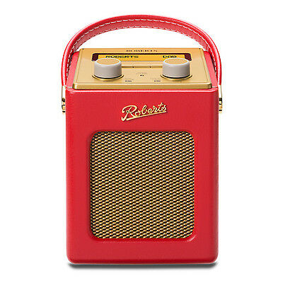 Roberts Revival Mini Red Portable DAB FM RDS Digital Radio Retro