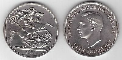 Uk United Kingdom - Prooflike 5 Shillings Unc Coin 1951 Festival Britain Km#880