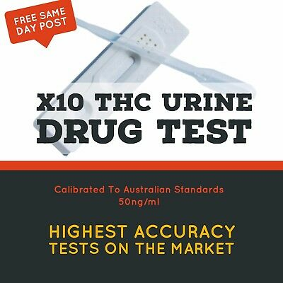 x10 THC Drug Test Urine Drug Testing Kit - Marijuana Cannabis Drug Test Kit