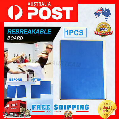 1 x Break Board – blue Karate Taekwondo  - Rebreakable Boards