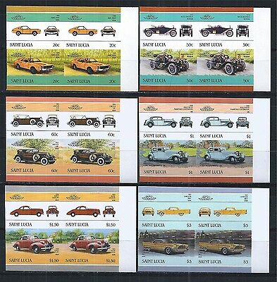 ST. LUCIA 1986 MiNr: 860 - 871 ** PAIRS PAARE IMPERF CARS AUTOS OLDTIMER