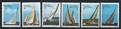 GRENADINES OF ST. VINCENT 1988 MiNr: 570 - 576 ** SAILING YACHT