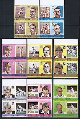 NEVIS 1984 MiNr: 186 - 193 / 220 - 227 ** PAIRS PAARE IMPERF CRICKET PLAYER