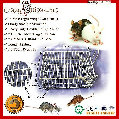 4 X Rat Trap Humane Mice Cage Pest Control Live Animal Catch Vermin Rodent Bait