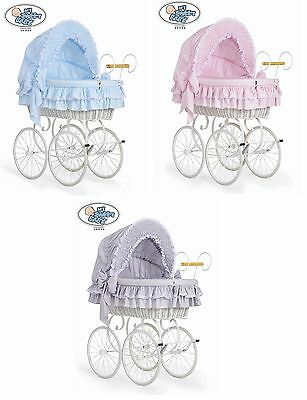 Brand New Bedding Set With Hood - Covers Only For Vintage / Retro Wicker Crib