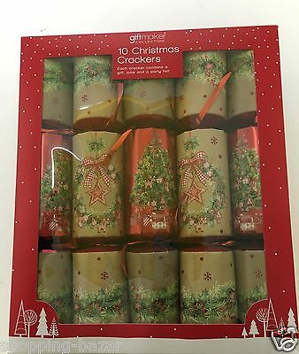 10 Christmas Crackers Family Gift Xmas Party Crakers Presents Gifts 12 Inches