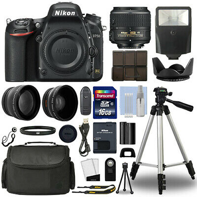 Nikon D750 Digital SLR Camera + 18-55mm VRII 3 Lens Kit + 16GB Top Value Bundle