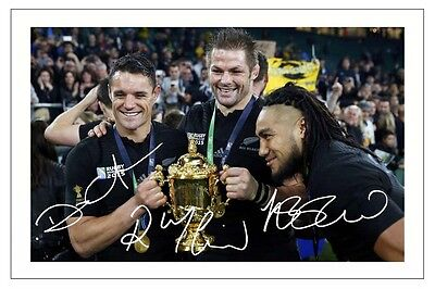 McCAW NONU CARTER NEW ZEALAND ALL BLACKS WORLD CUP 2015 RUGBY SIGNED PHOTO PRINT
