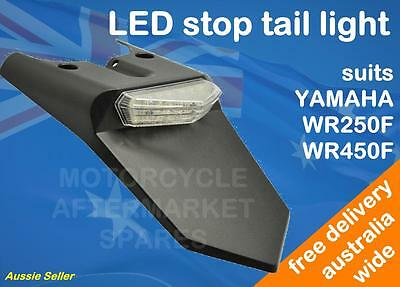 Clear Led Stop Tail Light For Yamaha Wr250F 2007 - 2014 Wr450F 2007 - 2014 Model