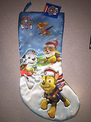Nwt Paw Patrol Skye Marchall Rubble Chase Christmas Stocking I Ship Everyday