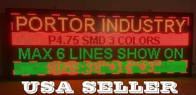 "RGY 4.7mm 40""x14"" indoor SMD  LED Sign Programable Scrolling Message Display"