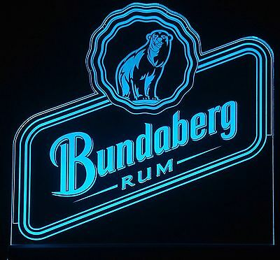 Bundaberg Rum LED Sign,Edgelit,Bar,Mancave,Led,Remote Control,Light,Gift