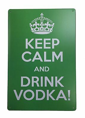 Tin Sign Wall Home Bar Shop Plaque Wall Decor Poster Keep Calm And Drink Vodka
