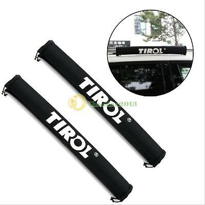 1 Pair TIROL Oxford Car Roof Rack Pads Inflatable Padded Crossbar Roof Cover