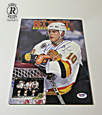 Pavel Bure Signed Beckett Magazine - Vancouver Canucks Autograph Issue: Oct 1992