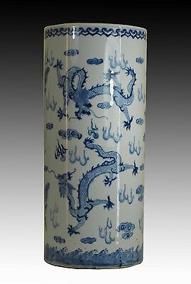 A Chinese Blue&White Porcelain Vase/ Umbrella Container