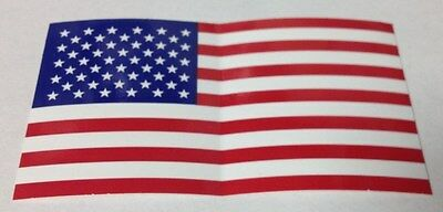 "2 1/4"" X 4"" U.s. Flag United States Bumper Sticker New"