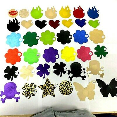 Invisible Nipple Cover Breast Reusable Circle Heart Flower Waterproof Women UK