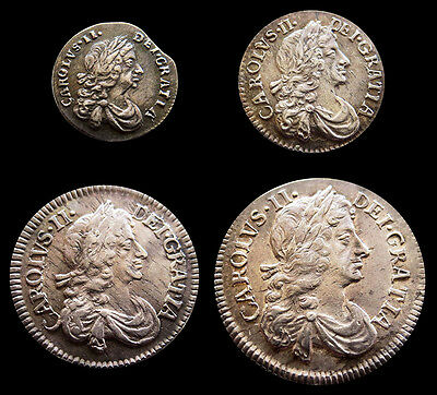 1679 Silver Great Britain Charles Ii Maundy Money Choice 4 Coin Set
