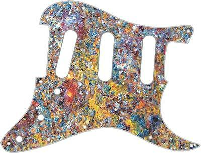 Stratocaster Pickguard Custom Fender SSS 11 Hole Guitar Pick Guard Rusted Metal