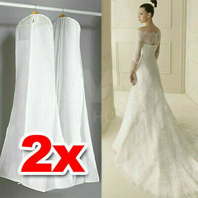 2 X Extra Large Wedding Dress Bridal Gown Garment Breathable Cover Storage Bag