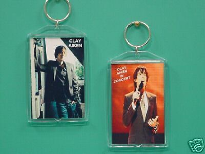 CLAY AIKEN - with 2 Photos - Designer Collectible GIFT Keychain 03