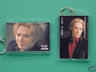 CLAY AIKEN - with 2 Photos - Designer Collectible GIFT Keychain 06