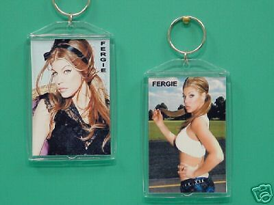 FERGIE - BLACK EYED PEAS - with 2 Photos - Designer Collectible GIFT Keychain