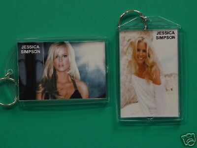 JESSICA SIMPSON - with 2 Photos - Designer Collectible GIFT Keychain