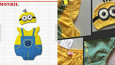 Minion Despicable Me Newborn Baby Boy Girl Animal Costume Photo Hat Beanie Pants