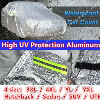 Double thick waterproof car cover rain resistant UV dust protection Side Entry