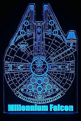 Star Wars MillennIum Falcon + Remote,Collectables,Bar Sign,Man Cave,display