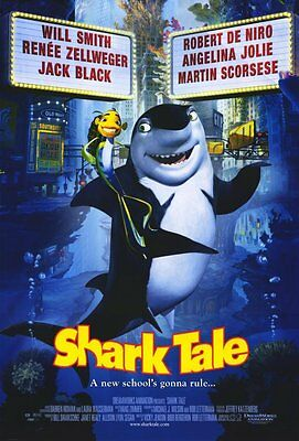 Shark Tale Regular Double Sided Original Movie Poster 27x40 inches