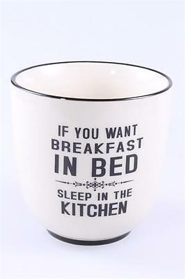 "Lafinesse Becher Groß Kaffee ""if You Want Breakfast In Bed Sleep In The Kitchen"""
