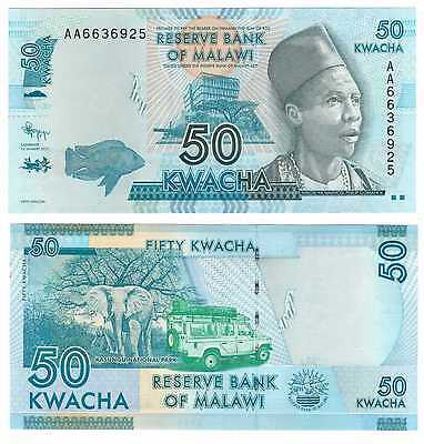 Malawi - New Issue 50 Kwacha Unc Banknote 2012 Year