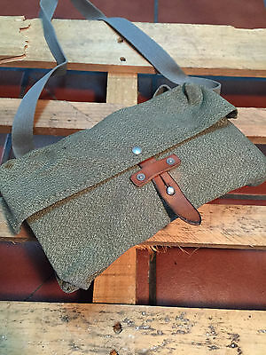 Vintage Swiss Military Army Shoulder Canvas Maps Bag Briefcase Messenger