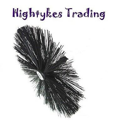 """CHIMNEY SWEEPING SWEEP BRUSH FOR DRAIN RODS SET 16"""" 400mm"""