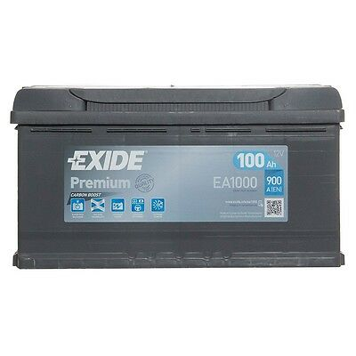 Type 017 Car Battery 900CCA Exide Premium 12V 100Ah 4 Years Wty OEM Replacement