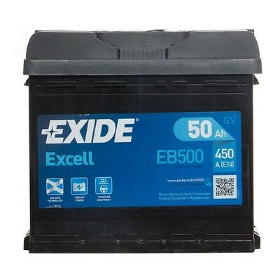 Type 012 Car Battery 450CCA 12V 50Ah Exide Excell 3 Years Wty OEM Replacement