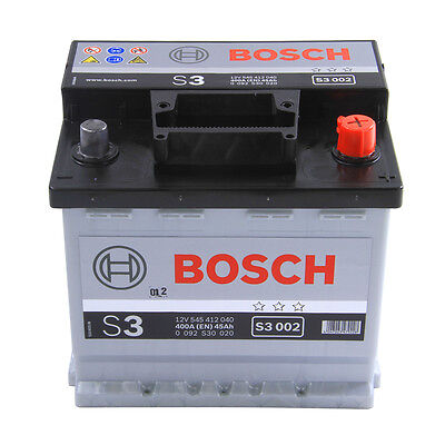Bosch Car Battery 12V 45Ah Type 048 300CCA 3 Years Wty Sealed OEM Replacement
