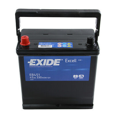 Type 049 Car Battery 330CCA Exide Excell 12V 45Ah 3 Years Wty Sealed OEM Quality