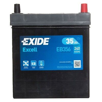 Type 054 Car Battery 240CCA Exide Excell 12V 35Ah 3 Yrs Warranty Not Sealed