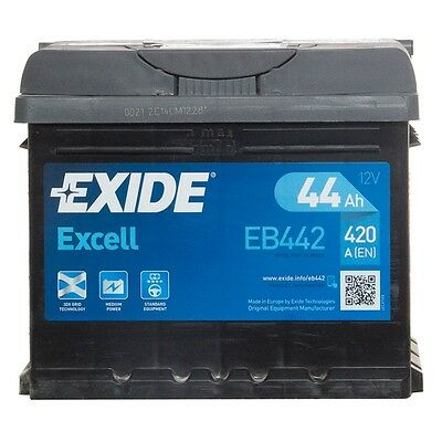 Type 063 Car Battery 420CCA Exide Excell 12V 44Ah 3 Years Warranty Sealed