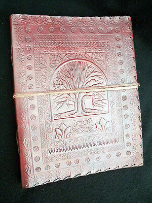 Tree of Life Pagan Wicca Handmade Leather ALTAR BOOK Book-of-Shadows Grimoire