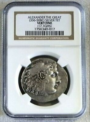 336 - 50 Bc Silver Thrace Tetradrachm Alexander The Great Ngc Very Fine